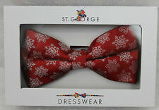 St.George Dressware de Designer Nœud Rouge avec Flocons Neige Hiver 400660 Neuf