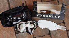 Oakley Airbrake MX Enduro MTB Brille Matte White Speed Weiß Klares Glas Cross