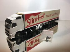LION CAR VOLVO FH12 460 TRUCK + TRAILER - SLIMFAST - WHITE 1:50 - EXCELLENT