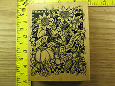 Rubber Stamp PSX Thanksgiving Holiday Background K1374 Stampinsisters #1606