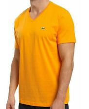 NEW AUTHENTIC LACOSTE V-NECK TEE SHORT SLEEVE PIMA COTTON MEN'S FASHION T-SHIRT