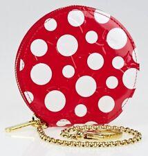 LOUIS VUITTON x YAYOI KUSAMA 'Chapeau Polka Dots' (Red) Monogram Coin Purse NIB!