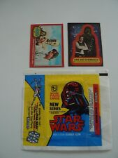 ** STAR WARS 1977 SERIES 2 COMPLETE TRADING CARDS, STICKERS SETS AND WAX WRAPPER