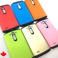 LG G3 D852 Extra Slim Hybrid Hard Armour Tough Shockproof Cover Case