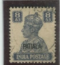 India - Convention States - Patiala Stamps Scott  #113 Used,VF (X6520N)
