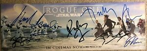 Star Wars: ROUGE ONE Signed Movie Poster Autograph 163x490mmJean eritrea