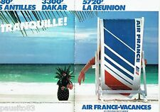 PUBLICITE ADVERTISING 116  1983  Air France vacances (2p) les Antilles Reunion