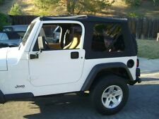 1997-2006 Jeep Wrangler Soft Top Canvas and Three Tinted Rear Windows