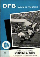 Länderspiel 13.03.1965 Deutschland - Italien in Hamburg
