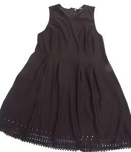 MONTEAU DRESS SIZE 2X 16-18? LOS ANGELES LIKE NEW STRETCH BLACK CUTOUT HEMLINE