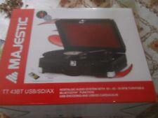 MAJESTIC TT 43 BT USB SD AX GIRADISCHI NERO audio integrato nuovo  garanzia