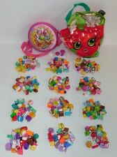 Lot of 136 Shopkins Figures NO DOUBLES w/Storage Bag & Strawberry Kiss Bag