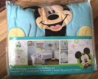 Disney Baby Mickey Mouse 3-Piece NURSERY/CRIB BEDDING SET ~ New
