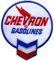 Hot Rod Patch Chevron Gasoline badge american oil station mechanic retro iron on