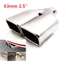 "2.5"" Stainless Steel Inlet Tail Rear Pipe Tip Muffler Cover Universal Hot Sale"