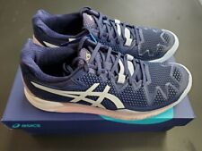 Women's Asics Gel Resolution 8 Tennis Shoe Peacoat/White Size 7.5