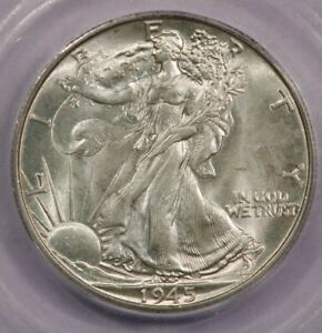 1945-D 1945 Walking Liberty Half Dollar ICG MS64