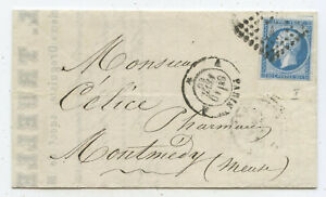 Frankreich Brief Paris Montmedy 1860