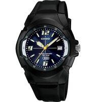 Casio MW600F-2AV Men's Black Resin Band Blue Dial 100M Analog HD Series Watch