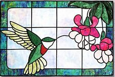 Hummingbird Sipper Fushia Stained Glass Bear Paw Productions Quilt Pattern