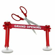 """25"""" Red/Silver Ceremonial Ribbon Cutting Scissors Deluxe Grand Opening Kit"""