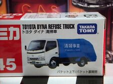 TOMICA #45 TOYOTA DYNA REFUSE GARBAGE TRUCK SCALE NEW IN BOX