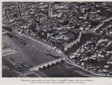 1936  --  VUE AERIENNE QUARTIER D ANGERS RAVAGE PAR INCENDIE   3A970