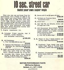 Motion Build Your Own Super Vega Single Sheet 1973