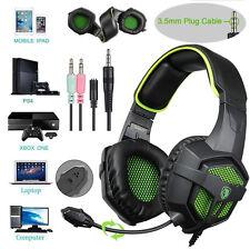 For Xbox One PS4 PC SADES SA-807 Stereo PRO Gaming Headset Headband Headphone