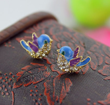 New Betsey Johnson's Lovely fashionable blue bird Earrings Gift Fashion BJ N331