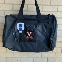 Virginia Cavaliers UVA Charlottesville Black Travel Duffel Bag - NWT