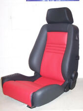 Recaro Ergomed DS Klimapaket Leder schwarz rot neu bezogen