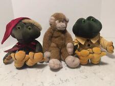 Three Boyds Bear In The Attic 2 Frogs Santa Bearwear Monkey Tag Green Yellow