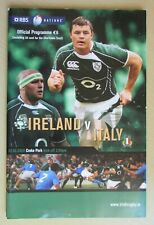 Very Rare - 2008 - RBS 6 Nations Rugby - Ireland v Italy - Programme