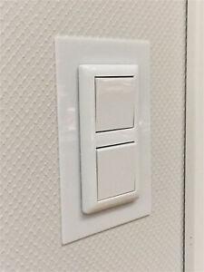 Tapetenschutz Tapetenschoner Lichtschalter-Rahmen in weiß und transparent