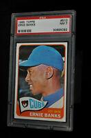 1965 Topps - Ernie Banks - #510 - PSA 7 - NM