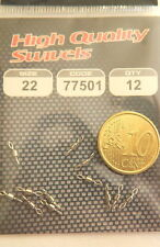 1 Package of Micro Fishing Swivels Fly N° 22 12 Pieces for Bolognese and Surfing