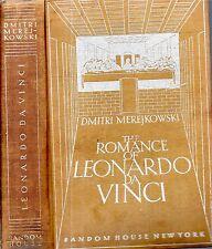 1931 LEONARDO DA VINCI BY DMITRI MEREJKOWSKI ILLUSTRATED FIRST EDITION GIFT IDEA