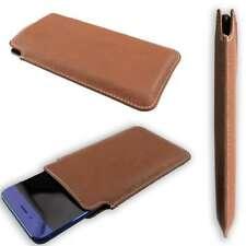 caseroxx Business-Line Case voor Samsung Galaxy A40 in brown gemaakt van faux le