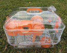 NEW 2 Level Sparkle Dwarf Hamster Mice Gerbils Mouse Rat Cage Orang 584