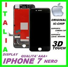 IPHONE 7 LCD SCHERMO DISPLAY ORIGINALE RETINA TOUCH SCREEN VETRO NERO PER APPLE