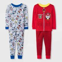 PAW Patrol 4pc Pajama Set Toddler Boys' - Red + Grey - 2 Cotton Sets