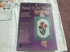 FAUX EVER YOURS Counted Cross Stitch Kit Marble Mat Ribbon Unopened TULIPS
