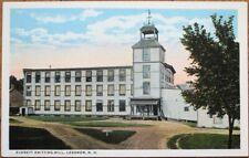 Lebanon, NH 1920 Postcard: Everett Knitting Mill - New Hampshire
