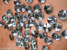 50 Acryl-Strass-Glitzersteine, rund, ca.12mm ,zum Basteln,Dekorieren  A66