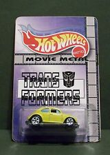 "Custom HotWheels VW BEETLE and package of  ""Bumblebee""  from TRANSFORMERS"