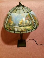 Stunning Thomas Kinkade Painting Tiffany Style Lamp