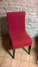 Chaise Wittmann Isis tissu rouge