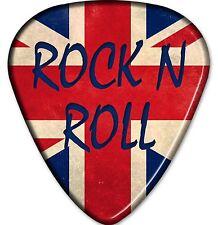 Union Jack Guitar Pick Rock N Roll Sticker Decal Fender Gibson Marshall Yamaha