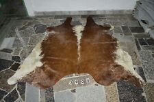 TRICOLOR EXOTIC!  - Rug HAIR ON SKIN  Leather cowhide 3900 --  77'' x  70''